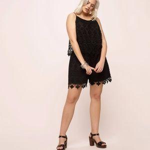 2aa46a2a379d Loralette Dresses - Plus Size Black lace Romper